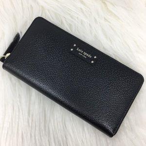 Kate Spade Large Continental Wallet black Jeanne